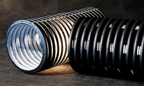 Трубы дренажные гофрированные
